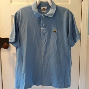 Lacoste blue polo sz 5 / large